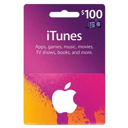 itunes card 100